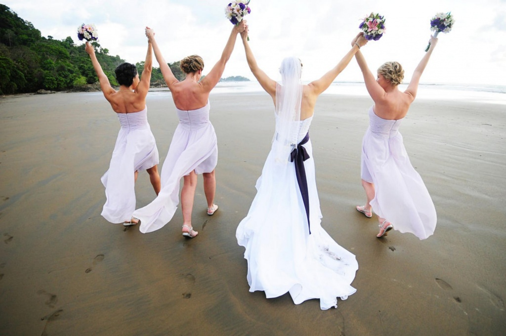 Bridal Party Celebration, Beach Wedding, Dominical, Costa Rica