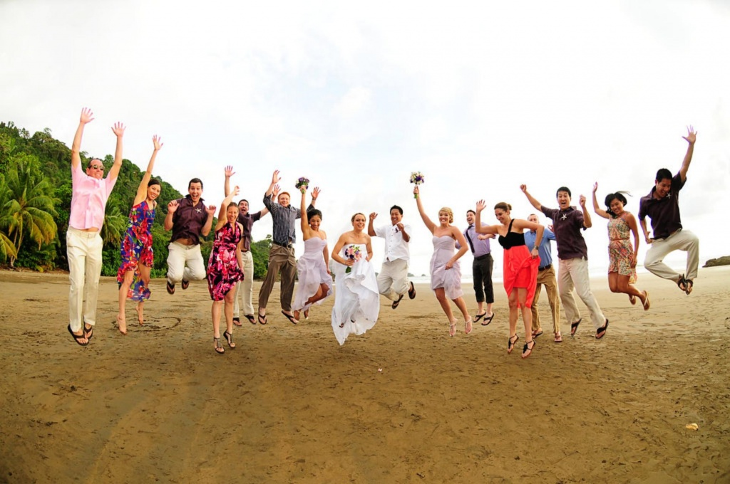 Tropical Beach Wedding, Dominical, Costa Rica