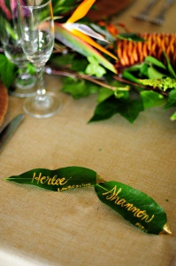 Tropical Leaves Wedding Ideas