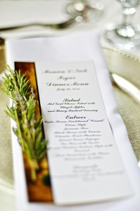 Unique Wedding Reception Menu