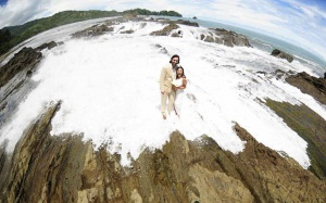 Beach Wedding Bride & Groom Photo Session, Dominical, Costa Rica