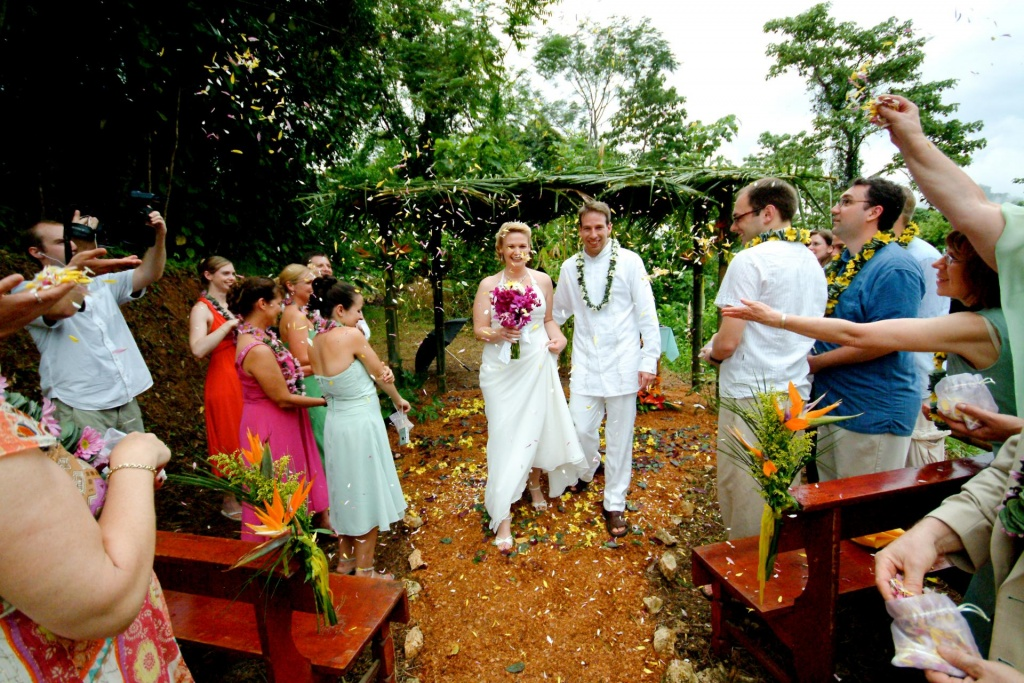 Jungle Wedding Ceremony, Dominical, Costa Rica