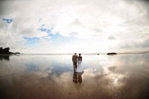 Beach Wedding Photo Session Sunset Time, Dominical, Costa Rica