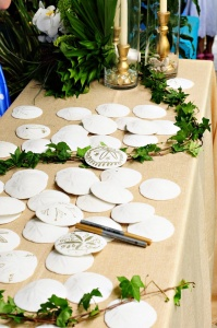 Sand Dollar Wedding Guest Book Idea