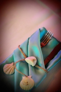 Beach Wedding Handmade Napkin Tie