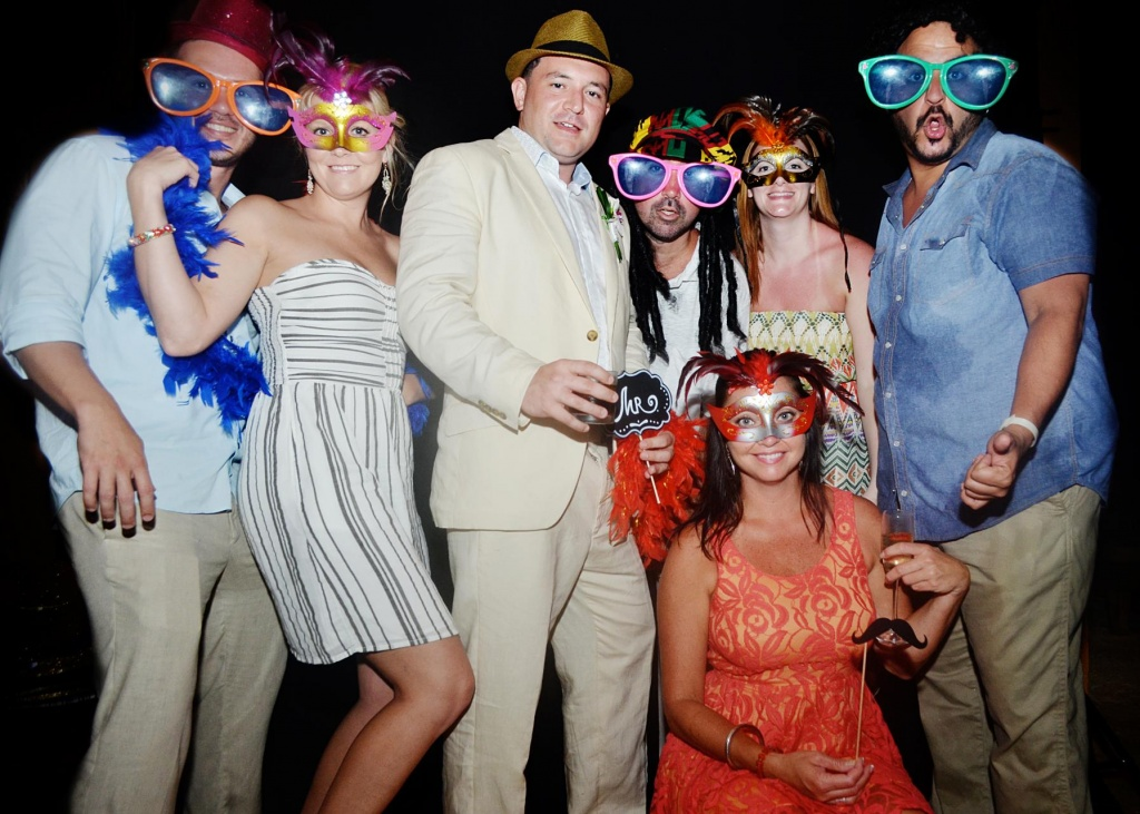 Photo booth Wedding Celebration, Private Estate, Costa Rica